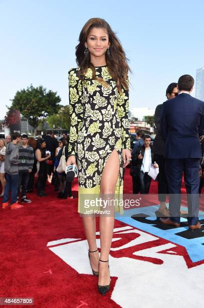 Actress Zendaya attends the 2014 MTV Movie Awards at Nokia Theatre LA Live on April 13 2014 in Los Angeles California