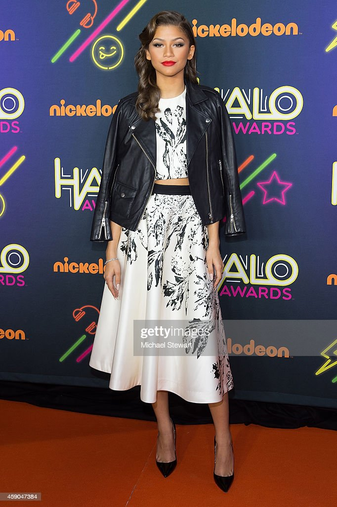 Actress Zendaya attends the 2014 Nickelodeon HALO Awards at Pier 36 on November 15 2014 in New York City