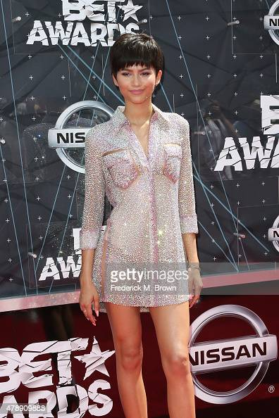 Actress Zendaya attends the 2015 BET Awards at the Microsoft Theater on June 28 2015 in Los Angeles California