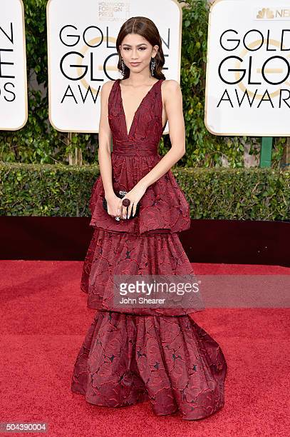 Actress Zendaya attends the 73rd Annual Golden Globe Awards held at the Beverly Hilton Hotel on January 10 2016 in Beverly Hills California