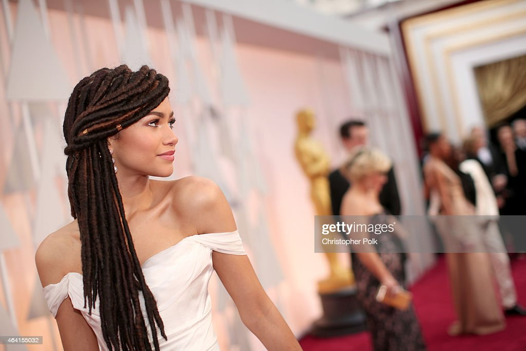 Actress Zendaya attends the 87th Annual Academy Awards at Hollywood Highland Center on February 22 2015 in Hollywood California