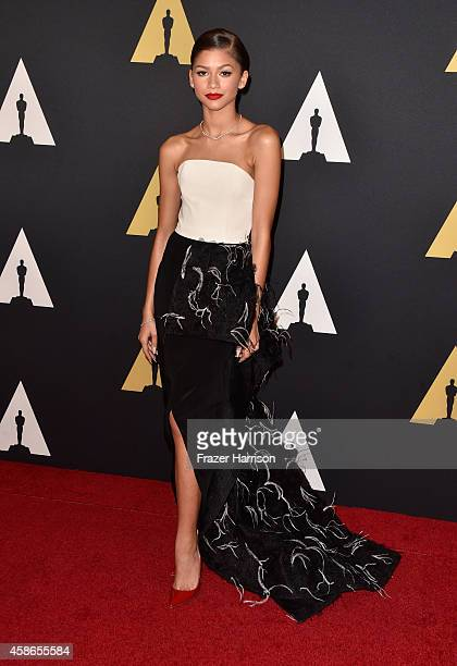 Actress Zendaya attends the Academy Of Motion Picture Arts And Sciences' 2014 Governors Awards at The Ray Dolby Ballroom at Hollywood Highland Center...