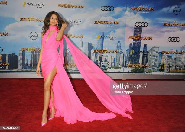 Actress Zendaya attends the premiere of Columbia Pictures' 'SpiderMan Homecoming' held at TCL Chinese Theatre on June 28 2017 in Hollywood California