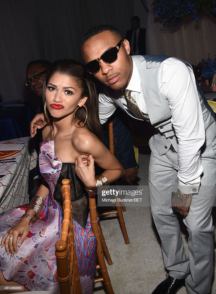 Actress <a gi-track='captionPersonalityLinkClicked' href=/galleries/search?phrase=Zendaya+Coleman&family=editorial&specificpeople=7115520 ng-click='$event.stopPropagation()'>Zendaya Coleman</a> (L) and rapper/actor <a gi-track='captionPersonalityLinkClicked' href=/galleries/search?phrase=Bow+Wow+-+Rapper&family=editorial&specificpeople=211211 ng-click='$event.stopPropagation()'>Bow Wow</a> (aka Shad Moss) attend the BET AWARDS '14 Debra Lee's Pre-Dinner held at Milk Studios on June 28, 2014 in Los Angeles, California.