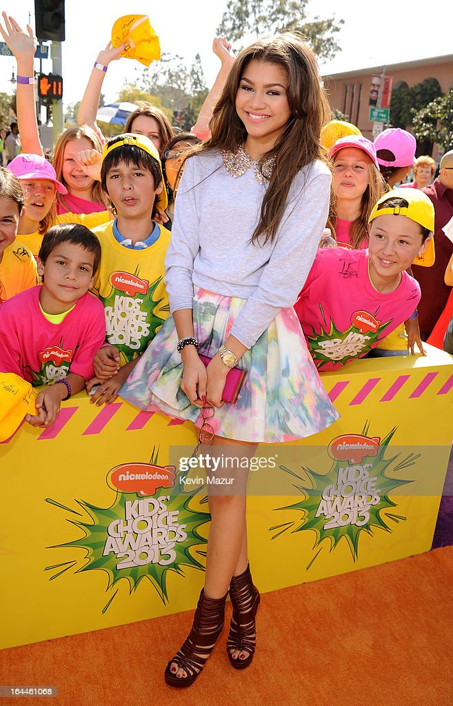 Actress Zendaya Coleman arrives at Nickelodeon's 26th Annual Kids' Choice Awards at USC Galen Center on March 23, 2013 in Los Angeles, California.