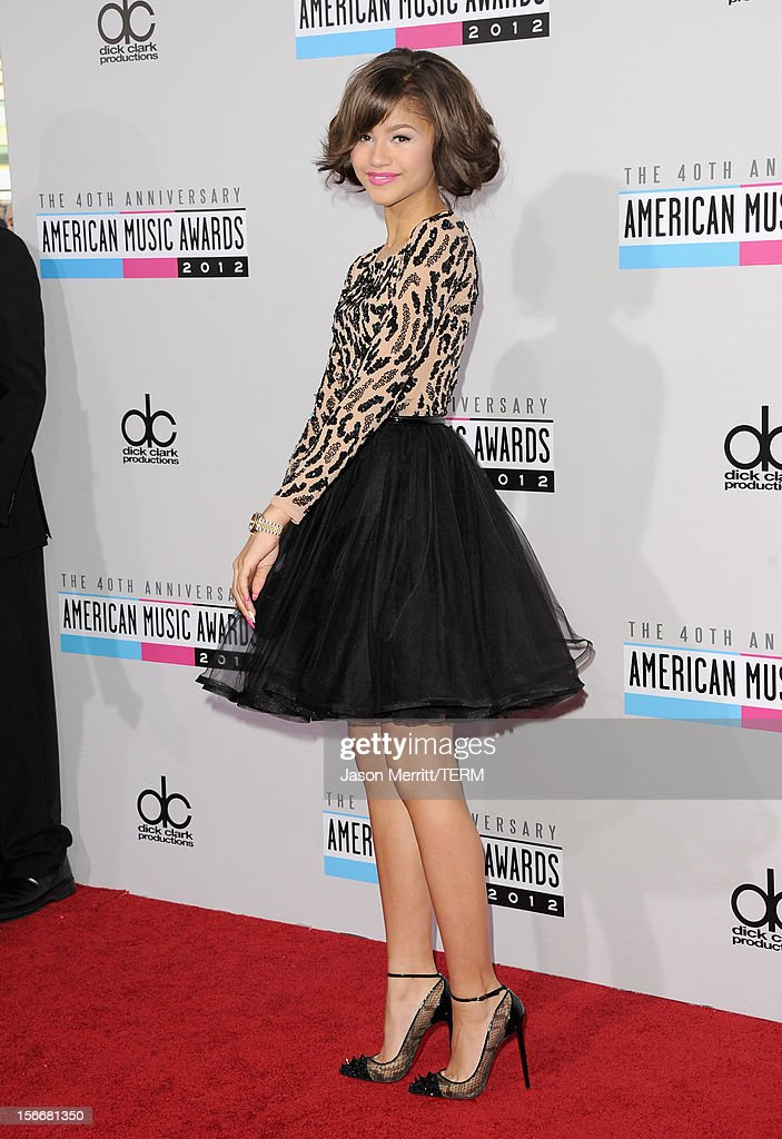 Actress Zendaya Coleman attends the 40th American Music Awards held at Nokia Theatre L.A. Live on November 18, 2012 in Los Angeles, California.