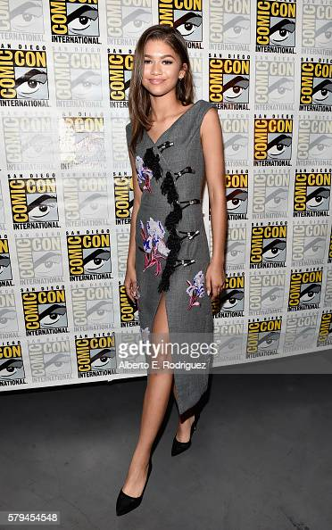 """Actress Zendaya from Marvel Studios' 'SpiderMan Homecoming"""" attends the San Diego ComicCon International 2016 Marvel Panel in Hall H on July 23 2016..."""