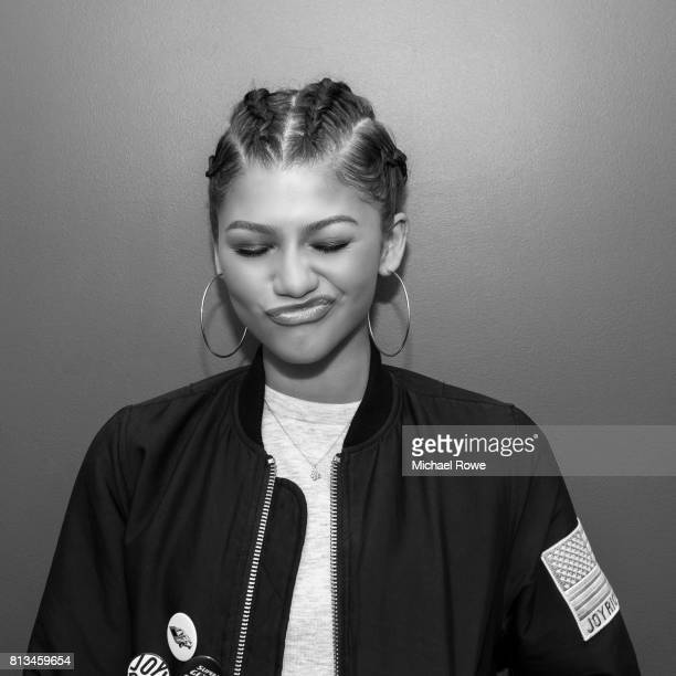 Actress Zendaya is photographed for Essence Magazine on April 1 2015 in Los Angeles California