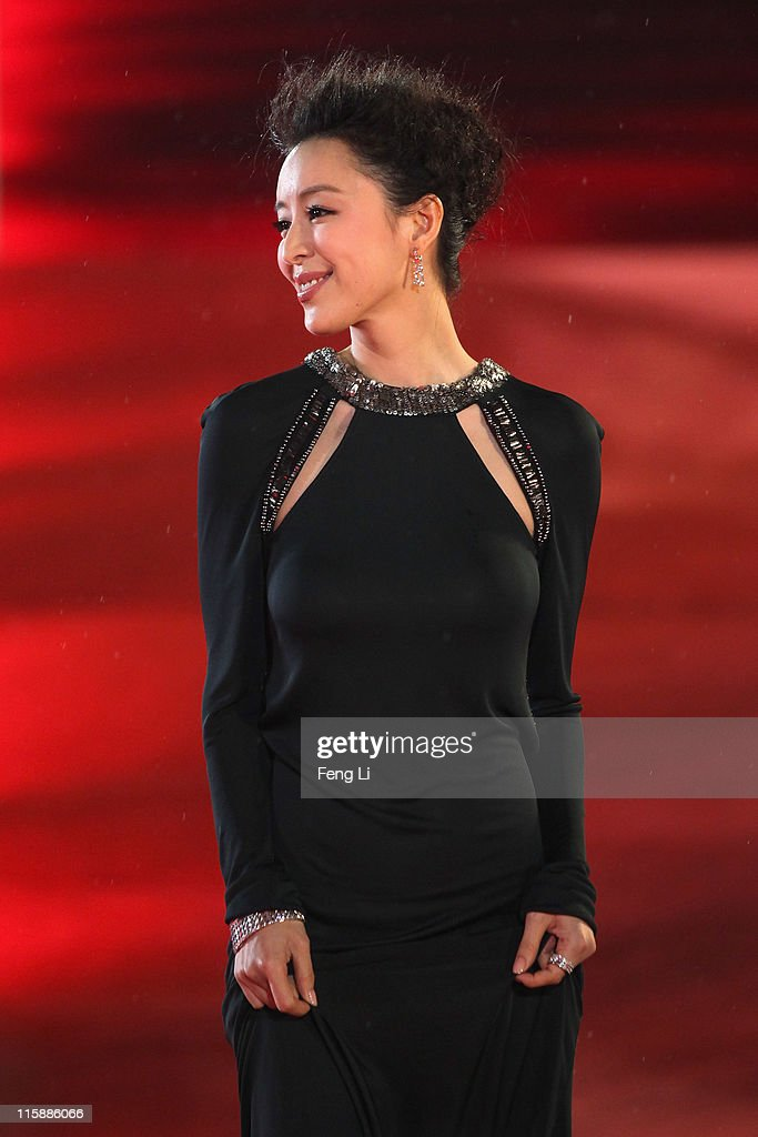 Actress <a gi-track='captionPersonalityLinkClicked' href=/galleries/search?phrase=Zhang+Jingchu&family=editorial&specificpeople=242993 ng-click='$event.stopPropagation()'>Zhang Jingchu</a> arrives at the opening ceremony of the 14th Shanghai International Film Festival on June 11, 2011 in Shanghai, China.