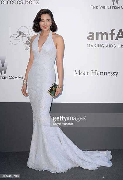 Actress Zhang Yuqi attends amfAR's 20th Annual Cinema Against AIDS during The 66th Annual Cannes Film Festival at Hotel du CapEdenRoc on May 23 2013...
