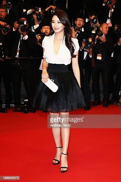 Actress Zhang Yuqi attends the Premiere of 'Tian Zhu Ding' during The 66th Annual Cannes Film Festival at Palais des Festivals on May 17 2013 in...