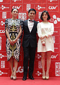 Actress Zhang Ziyi actor Tony Leung Chiu Wai and actress Song HyeKyo arrive for 2013 Chinese Film Festival opening ceremony at Yeouido CGV on June 16...