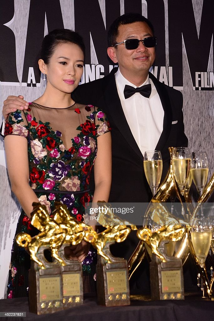 Actress Zhang Ziyi and director Wang Jiawei attend celebration party after 50th Golden Horse Awards on Saturday November 23,2013 in Taipei,China.
