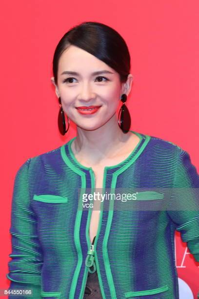 Actress Zhang Ziyi arrives at the red carpet of the opening ceremony of Armani Box on September 8 2017 in Beijing China