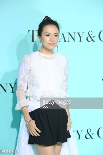 Actress Zhang Ziyi arrives at the red carpet of Tiffany Co grand ceremony on June 8 2017 in Beijing China
