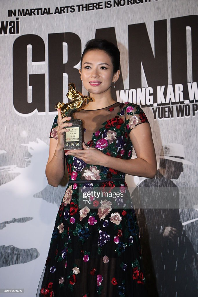 Actress Zhang Ziyi attends celebration party after 50th Golden Horse Awards on Saturday November 23,2013 in Taipei,China.