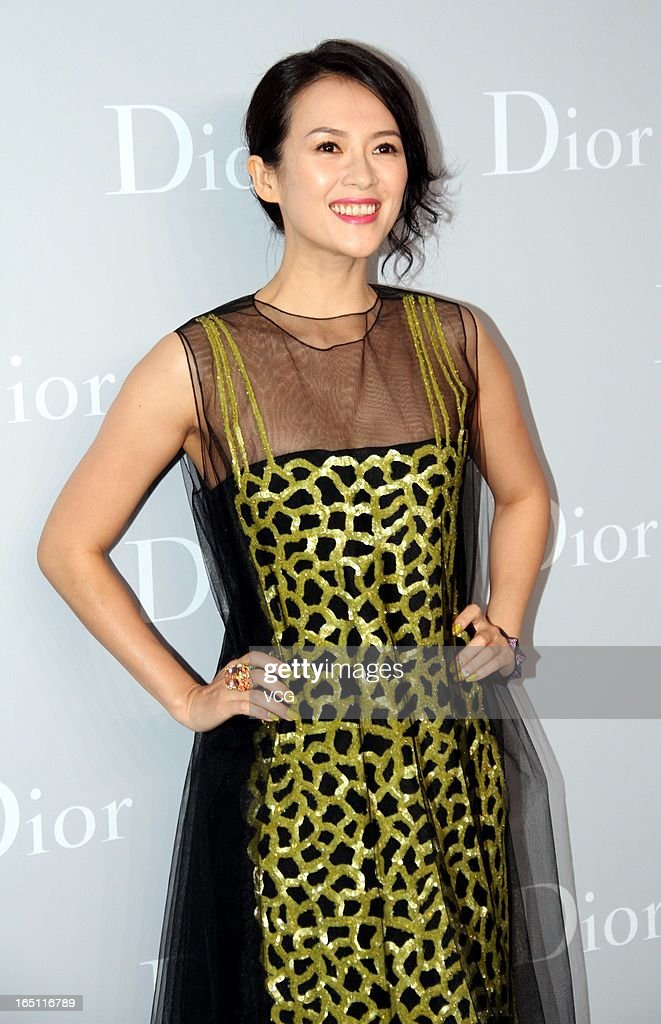 Actress Zhang Ziyi attends Christian Dior S/S 2013 Haute Couture Collection at Five on the Bund on March 30, 2013 in Shanghai, China.