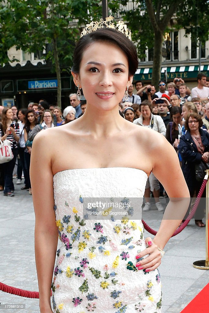 Actress Zhang Ziyi attends Le Grand Bal De La Comedie Francaise held at La Comedie Francaise on July 4, 2013 in Paris, France.