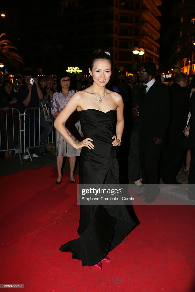 Actress Zhang Ziyi attends the closing ceremony dinner during the 58th Cannes Film Festival.