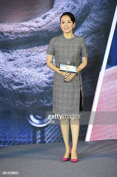 Actress Zhang Ziyi attends 'The Crossing Part 2' press conference on July 22 2015 in Beijing China