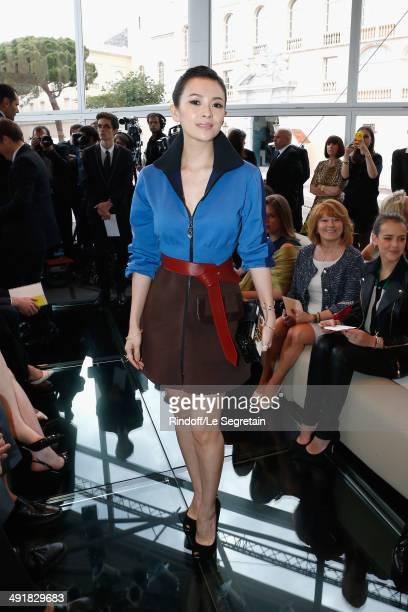 Actress Zhang Ziyi attends the Louis Vuitton Cruise Line Show 2015 at Palais Princier on May 17 2014 in MonteCarlo Monaco