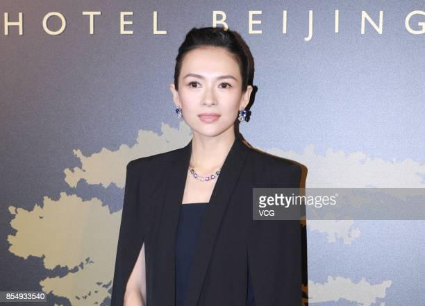 Actress Zhang Ziyi attends the opening ceremony of Bvlgari Hotel Beijing on September 27 2017 in Beijing China