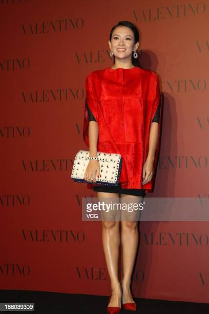 Actress Zhang Ziyi attends Valentino Fashion Show at Shanghai Port International Cruise Terminal on November 14 2013 in Shanghai China