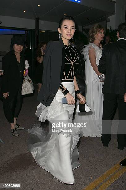 Actress Zhang Ziyi is seen leaving the 'Palais des Festivals' on day 1 of the 67th Annual Cannes Film Festival on May 14 2014 in Cannes France