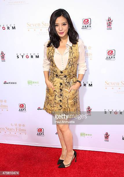 Actress Zhao Wei attends the 'Hand and Footprint Ceremony' at The TCL Chinese Theatre IMAX on June 3 2015 in Hollywood California