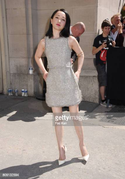 Actress Zhou Xun attends the Chanel Haute Couture Fall/Winter 20172018 show as part of Paris Fashion Week on July 4 2017 in Paris France