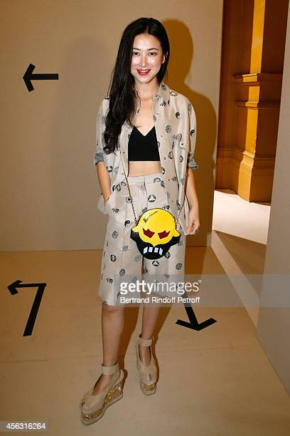 Actress Zhu Zhu attends the Stella McCartney show as part of the Paris Fashion Week Womenswear Spring/Summer 2015 on September 29 2014 in Paris France