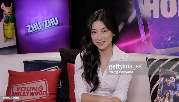 Actress Zhu Zhu visits the Young Hollywood Studio on November 7 2014 in Los Angeles California