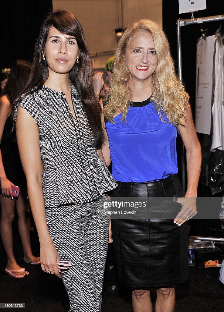 Actress Zineb Oukach (L) and designer <a gi-track='captionPersonalityLinkClicked' href=/galleries/search?phrase=Nanette+Lepore+-+Fashion+Designer&family=editorial&specificpeople=5410475 ng-click='$event.stopPropagation()'>Nanette Lepore</a> pose backstage at the <a gi-track='captionPersonalityLinkClicked' href=/galleries/search?phrase=Nanette+Lepore+-+Fashion+Designer&family=editorial&specificpeople=5410475 ng-click='$event.stopPropagation()'>Nanette Lepore</a> fashion show during Mercedes-Benz Fashion Week Spring 2014 at The Stage at Lincoln Center on September 11, 2013 in New York City.