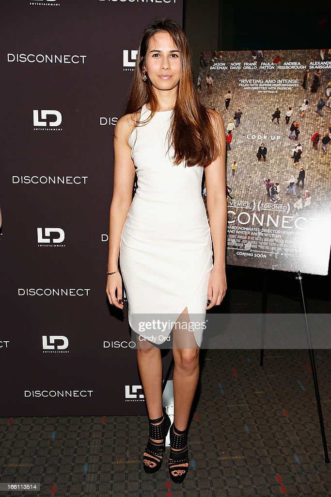 Actress Zineb Oukach attends the 'Disconnect' New York Special Screening at SVA Theater on April 8 2013 in New York City