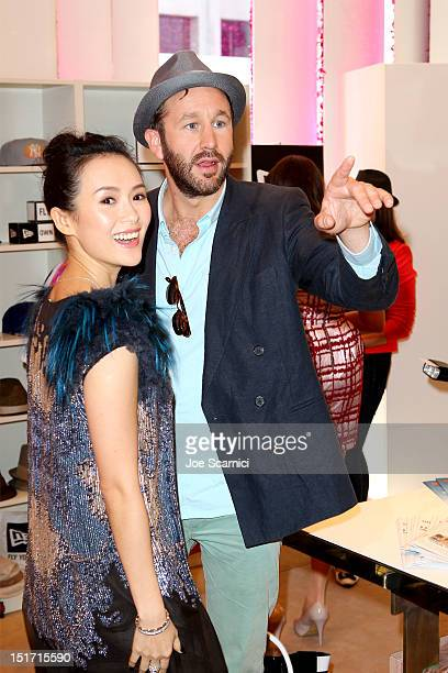Actress Ziyi Zhang and Actor Chris O'Dowd attend the Variety Studio presented by Moroccanoil at Holt Renfrew during the 2012 Toronto International...