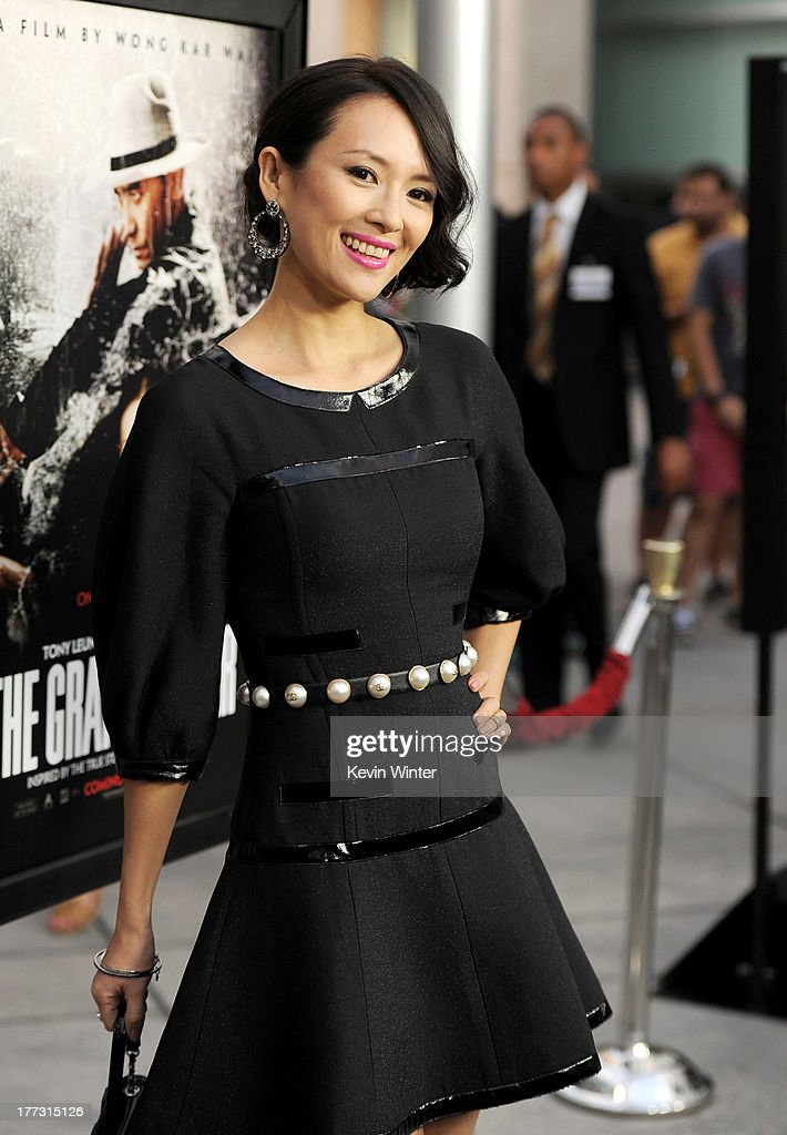 Actress Ziyi Zhang arrives at a screening of The Weinstein Company's 'The Grandmaster' at the Arclight Theatre on August 22, 2013 in Los Angeles, California.