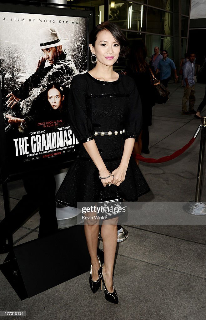 Actress <a gi-track='captionPersonalityLinkClicked' href=/galleries/search?phrase=Ziyi+Zhang&family=editorial&specificpeople=172013 ng-click='$event.stopPropagation()'>Ziyi Zhang</a> arrives at a screening of The Weinstein Company's 'The Grandmaster' at the Arclight Theatre on August 22, 2013 in Los Angeles, California.