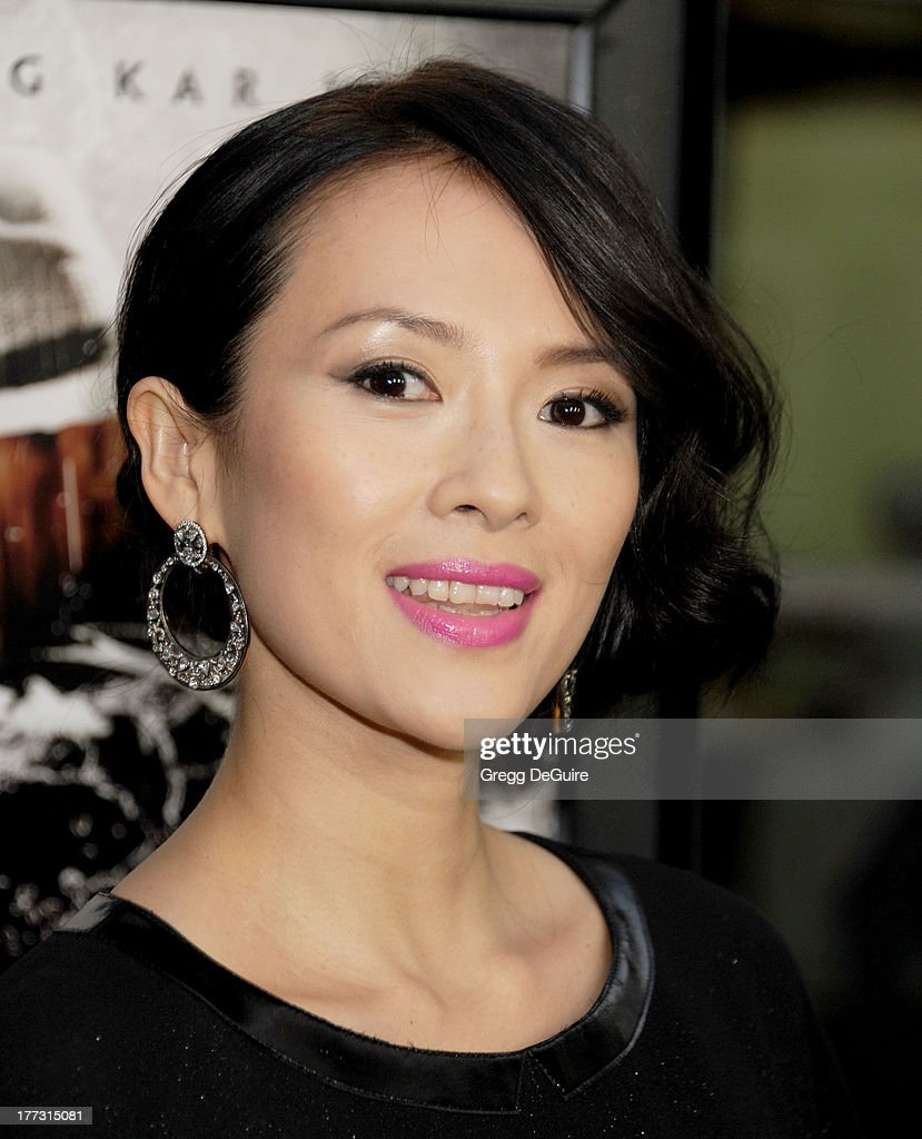 Actress <a gi-track='captionPersonalityLinkClicked' href=/galleries/search?phrase=Ziyi+Zhang&family=editorial&specificpeople=172013 ng-click='$event.stopPropagation()'>Ziyi Zhang</a> arrives at the Los Angeles premiere of 'The Grandmaster' at ArcLight Cinemas on August 22, 2013 in Hollywood, California.