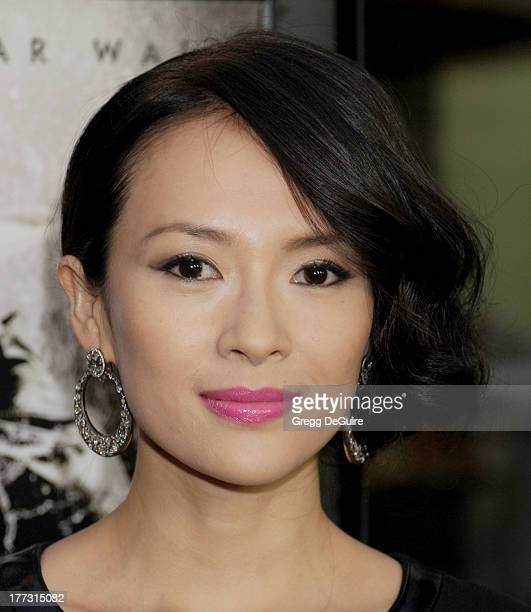 Actress Ziyi Zhang arrives at the Los Angeles premiere of 'The Grandmaster' at ArcLight Cinemas on August 22 2013 in Hollywood California