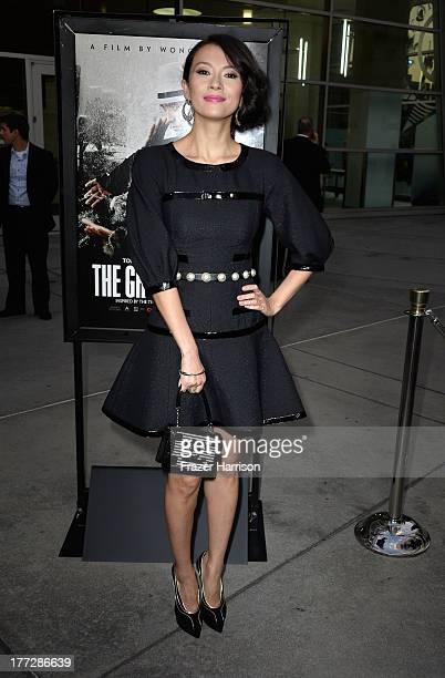 Actress Ziyi Zhang arrives at the Screening Of The Weinstein Company And Annapurna Pictures' 'The Grandmaster' at ArcLight Cinemas on August 22 2013...