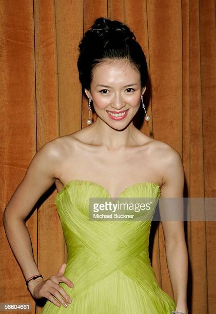 Actress Ziyi Zhang arrives at the Weinstein Co Golden Globe after party held at Trader Vic's on January 16 2006 in Beverly Hills California