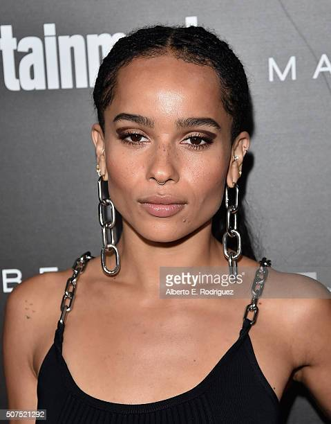 Actress Zoë Kravitz attends Entertainment Weekly's celebration honoring THe Screen Actors Guild presented by Maybeline at Chateau Marmont on January...