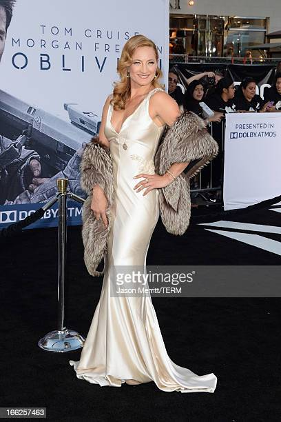 Actress Zoe Bell arrives at the premiere of Universal Pictures' 'Oblivion' at Dolby Theatre on April 10 2013 in Hollywood California
