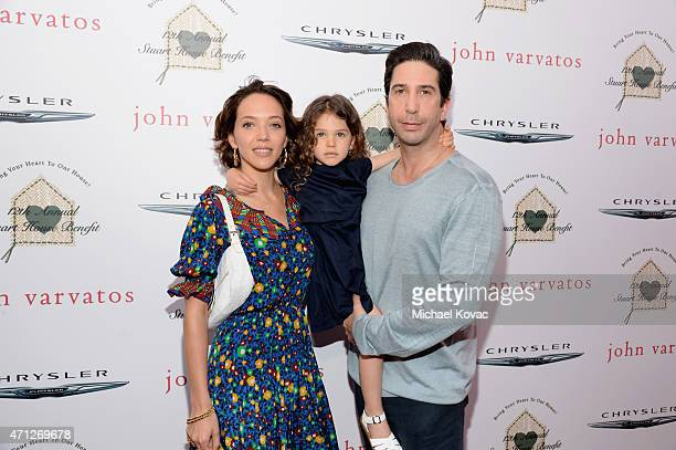 Actress Zoe Buckman Cleo Buckman Schwimmer and actor David Schwimmer attend Chrysler John Varvatos 12th Annual Stuart House Benefit at John Varvatos...