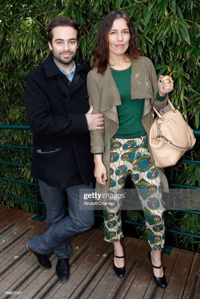 Actress Zoe Felix and her brother Tom Nicolazo attend Roland Garros Tennis French Open 2013 - Day 8 on June 2, 2013 in Paris, France.