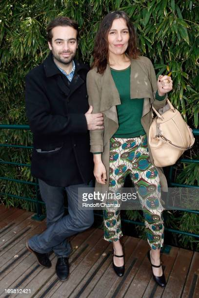Actress Zoe Felix and her brother Tom Nicolazo attend Roland Garros Tennis French Open 2013 Day 8 on June 2 2013 in Paris France