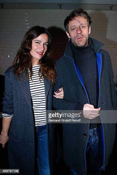 Actress Zoe Felix and her companion Benjamin Rolland attend Maison Jean Paul Gaultier Hosts 'Le Projet ICCARRE Association' Against AIDS at 325 Rue...