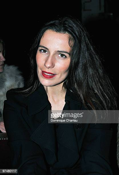 Actress Zoe Felix attends the Maison Martin Margiela Ready to Wear show as part of the Paris Womenswear Fashion Week Fall/Winter 2011 at Halle...