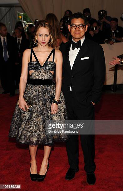 Actress Zoe Kazan and designer Peter Som attend the Costume Institute Gala Benefit to celebrate the opening of the 'American Woman Fashioning a...