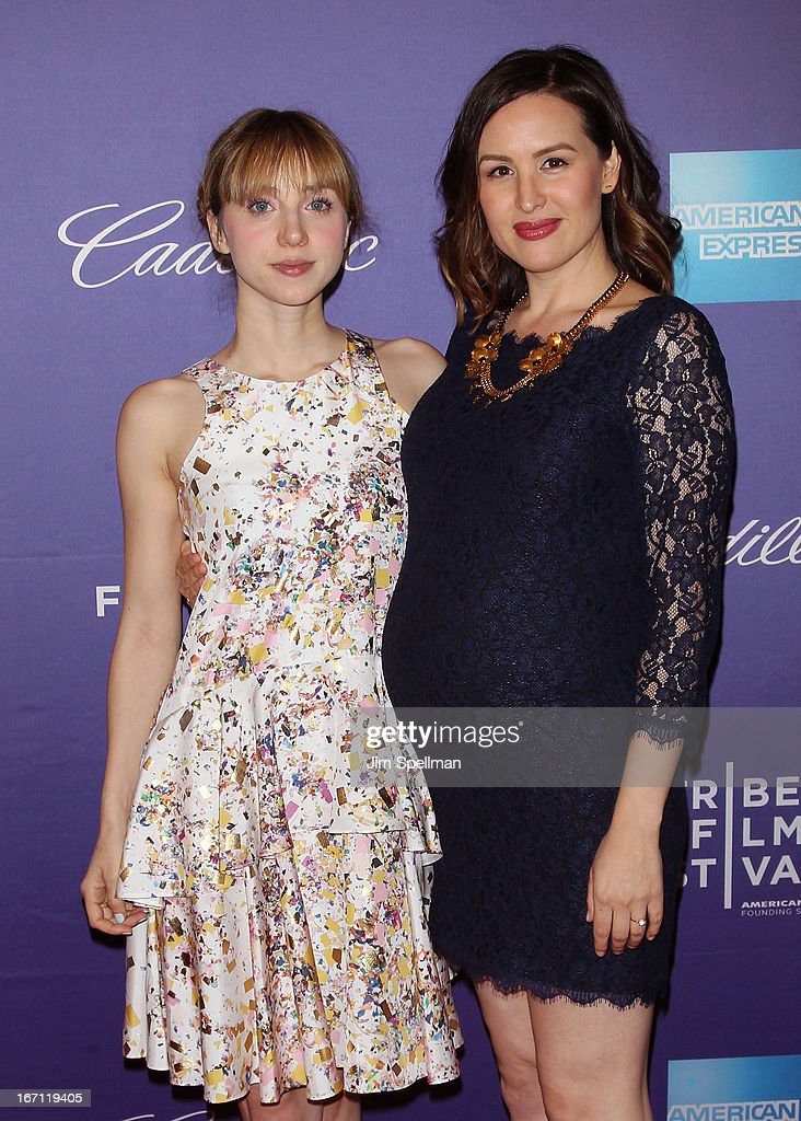 Actress <a gi-track='captionPersonalityLinkClicked' href=/galleries/search?phrase=Zoe+Kazan&family=editorial&specificpeople=3953779 ng-click='$event.stopPropagation()'>Zoe Kazan</a> and director Jenee LaMarque attend the screening of 'The Pretty One' during the 2013 Tribeca Film Festival at SVA Theater on April 20, 2013 in New York City.